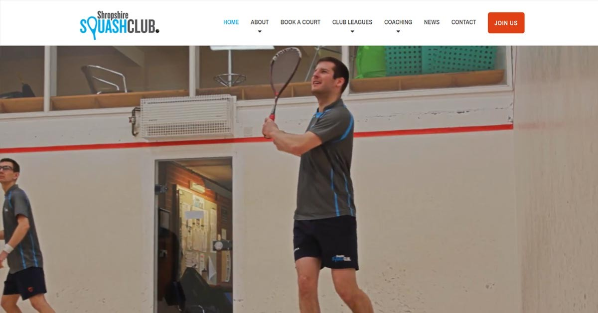 New Website Leads to Big Award for Shropshire Squash Club