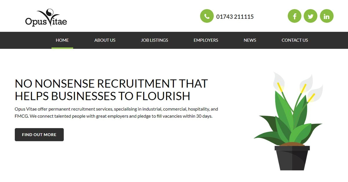 New Website for a New Kind of Recruiter in Shropshire