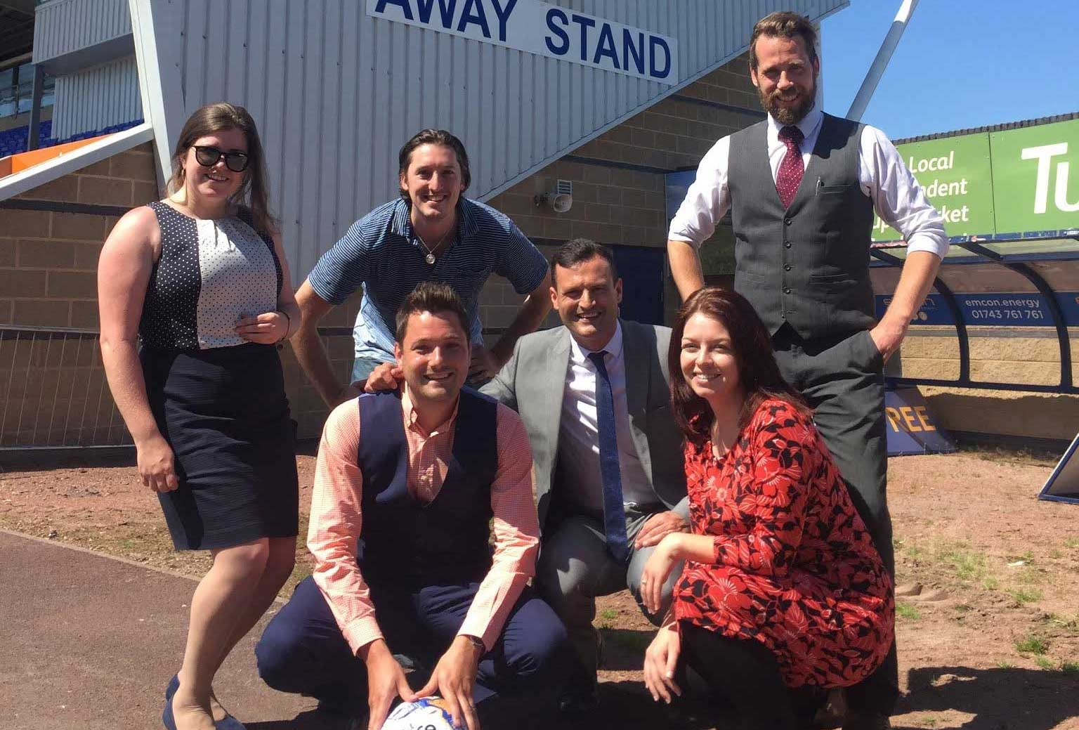 Six Ticks Celebrate DM Recruitment's Partnership with Shrewsbury Town FC