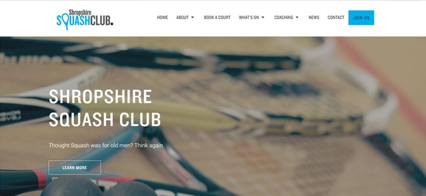 New Action-Packed Website for Shropshire Squash Club