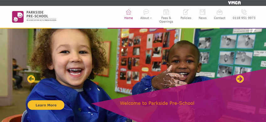 Six Ticks Creates New Website for Parkside Preschool