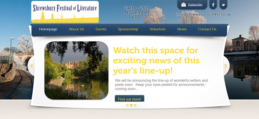 Six Ticks Supports the 2nd Shrewsbury Festival of Literature
