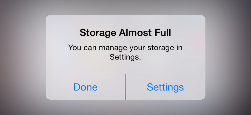 They Use Less Storage Space