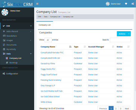 Six Ticks CRM | CRM System and Content Management System